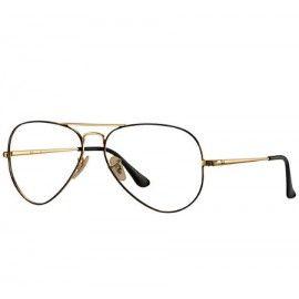 90a5fb4c2 Ray Ban Aviator Optics RB6489 eyeglasses – Black; Gold Frame / Clear Lens