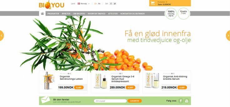 Bio2You Norge - Leverandør og forhandler av naturlig hudpleie og kosttilskudd basert på tindved, frukten med mer enn 190 aktive organiske næringsstoffer. (Eng: Sea Buckthorn)  #tindved #seabuckthorn #hudpleie #kosttilskudd