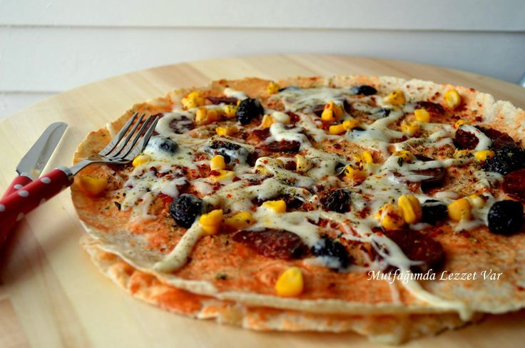 Mutfağımda Lezzet Var: Lavaş Pizza-5 Dakikada Hazır