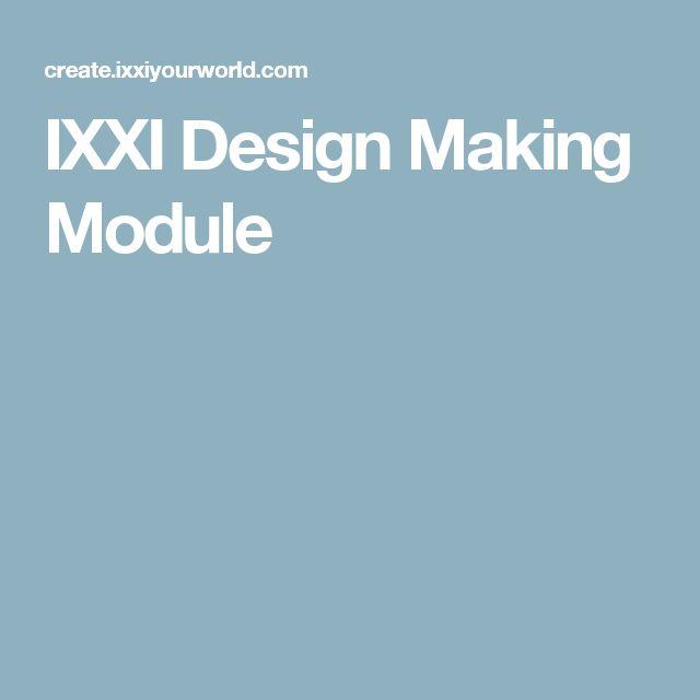 IXXI Design Making Module