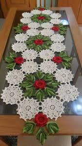 Resultado de imagem para caminos de mesa tejidos a crochet para navidad