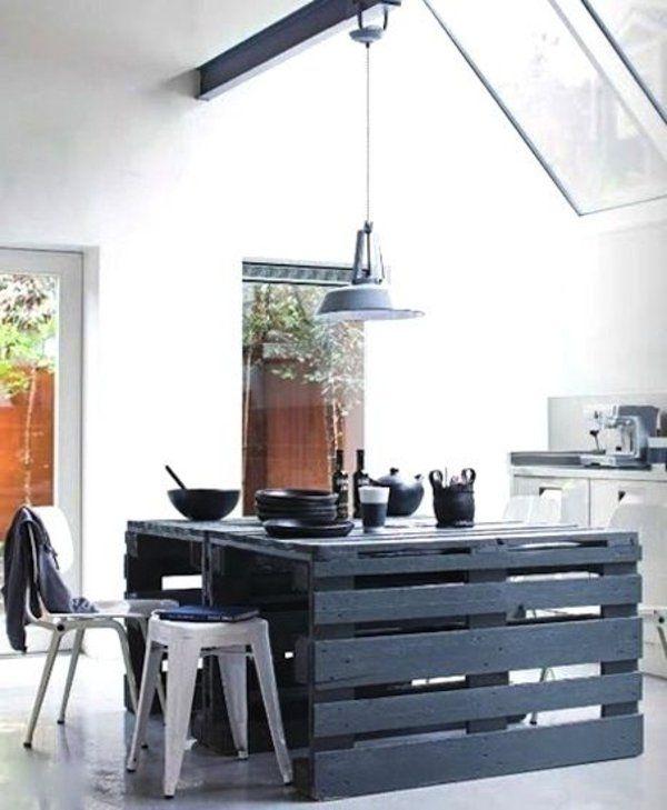 moderne einrichtung küche palettenmöbel
