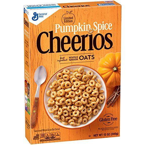 Pumpkin Spice Cheerios Limited Edition Cereal, 12 oz Pump...
