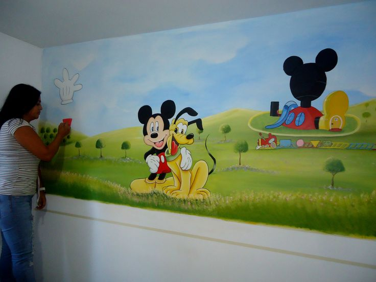 decoracion cuarto infantil de Mickey Mouse