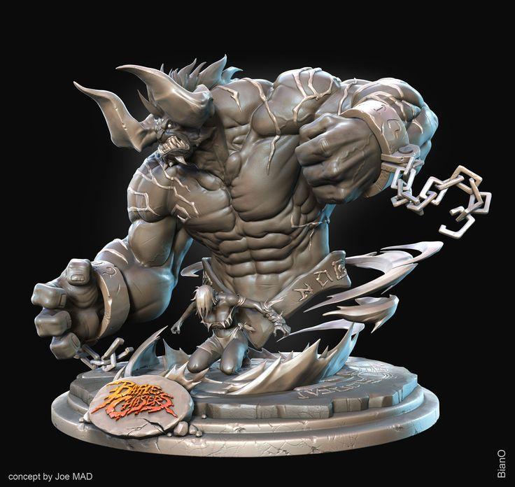 Battle Chasers Fan ARt   Eat 3D