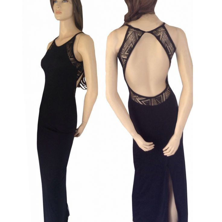 Crochet mesh back dress