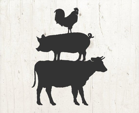 Farm Animal Svg Farm Svg Farm Animals Svg Cow Svg Pig Etsy Animal Clipart Farm Animals Animal Silhouette