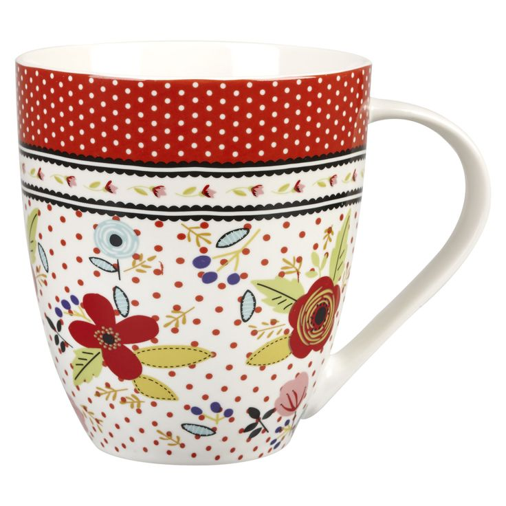 NEW FROM THE CARAVAN TRAIL - Beach Break Mug Gift Set #afternoontea #red #white #floral #home #gift #mug #brew #teatime #love