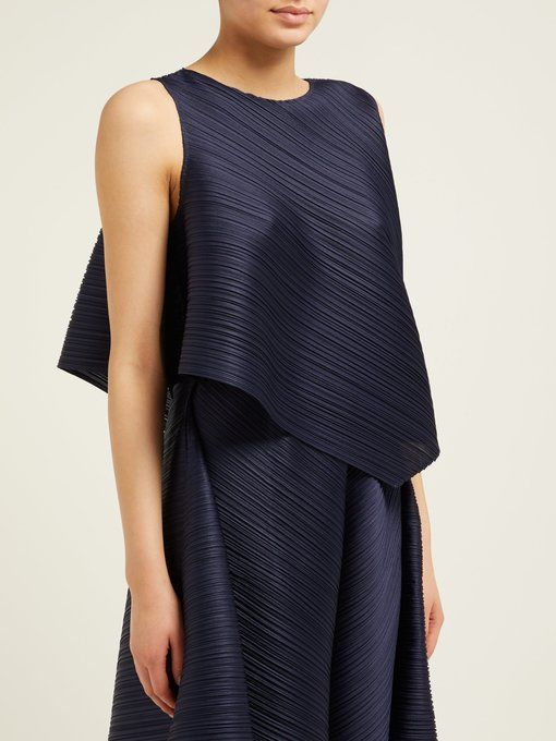 e053c6bb025ed Pleats Please Issey Miyake Asymmetric pleated top