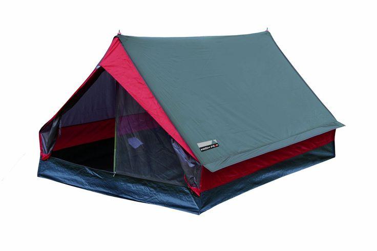 High Peak Minipack - Tienda de campaña para dos personas, tamaño 190x120x95, color gris/rosa: Amazon.es: Deportes y aire libre