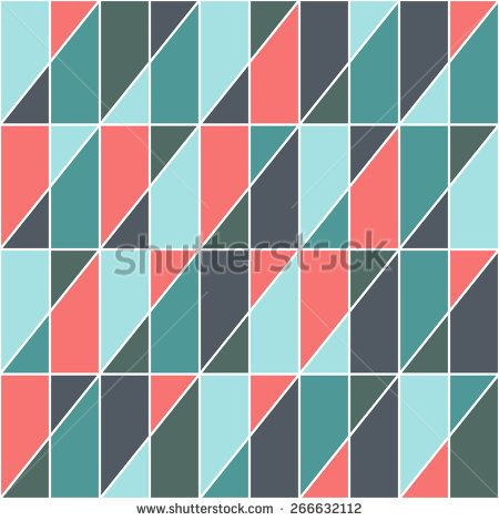 Retro seamless pattern with triangles and rectangles. #geometricpattern #vectorpattern #patterndesign #seamlesspattern