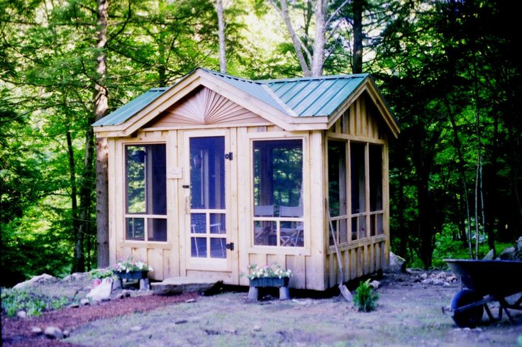 Gazebo screened in porch diy plans 10x14 florida room Shed with screened porch
