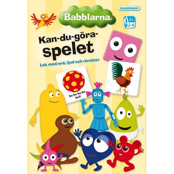 Ett roligt spel för de allra allra minsta som bara älskar Babblarna! Lek med ord, ljud och rörelser tillsammans.Från 2 år.