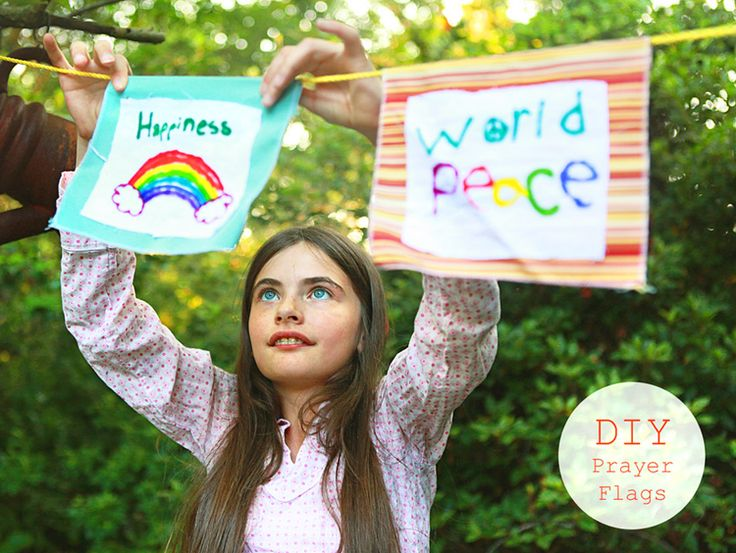 DIY Prayer Flags: Prayer flags are said to bring happiness, long life and prosperity to the flag planter and those in the vicinity.
