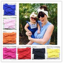 Par SET mãe e Me boho turbante cabeça atada cabeça de bebê e mamãe Headwrap algodão 1 conjunto(China (Mainland))