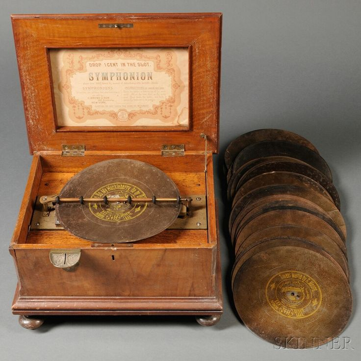Symphonion 10 1 2 Inch Coin Operated Disc Music Box