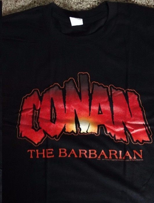 Conan the Barbarian Movie Flame Logo T-Shirt #ConantheBarbarian #GraphicTee