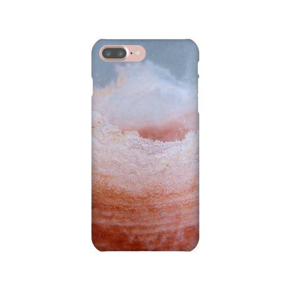 iPhone 6s 7 Plus Slim Snap Case Salt Crystal Photo Texture Orange Gray iPhone SE Samsung Galaxy S7 Edge