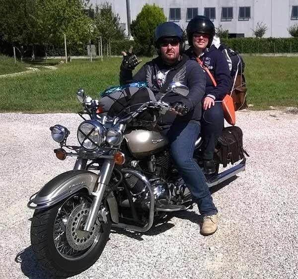 Viaggio di nozze in moto
