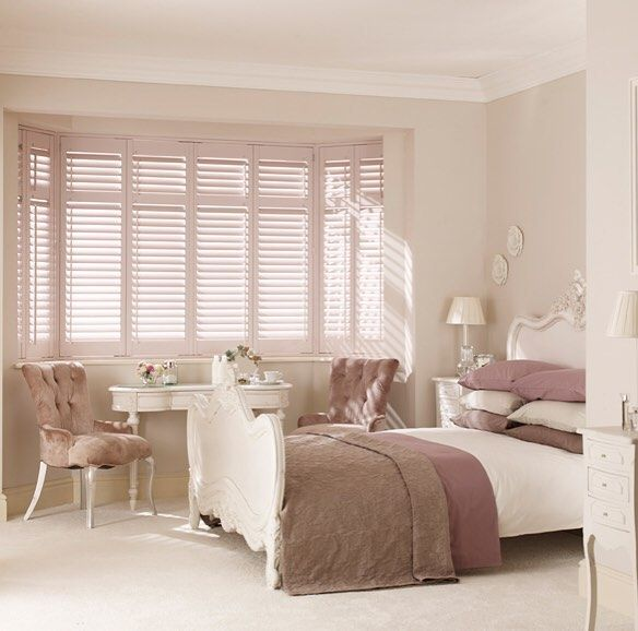 A day for the bed! #irishinteriors #bedroomshutters #baywindow #pinkroom #weekendvibes #cosyplace - Recent Work