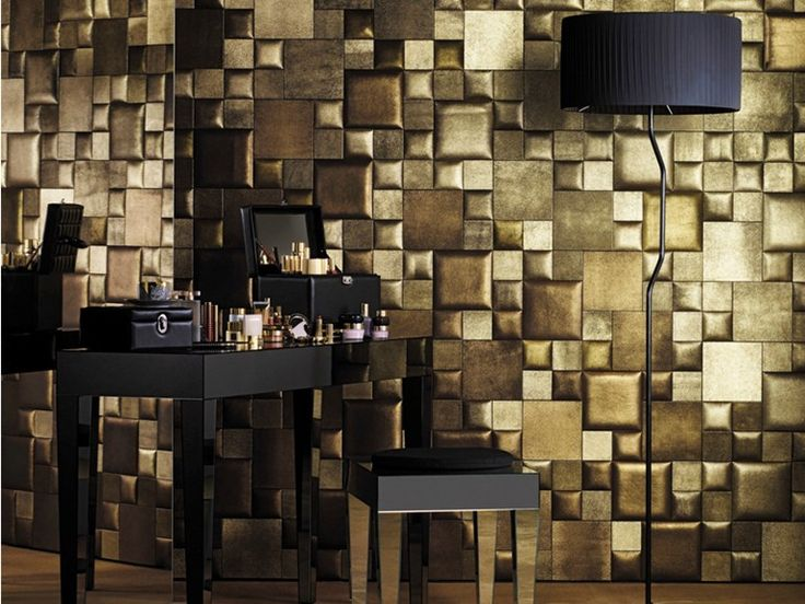 Leather wall tiles WATERSUEDE Leatherwall Collection by Studioart