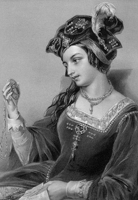 """Анна Болейн. 1528 год. Генрих VIII пишет любовное письмо  к своей будущей второй жене Анне Болейн, на французском, оно пять веков хранилось в Ватикане и завершается подписью: """"Г. любит А.Б."""" и заключенными в сердечко инициалами возлюбленной."""