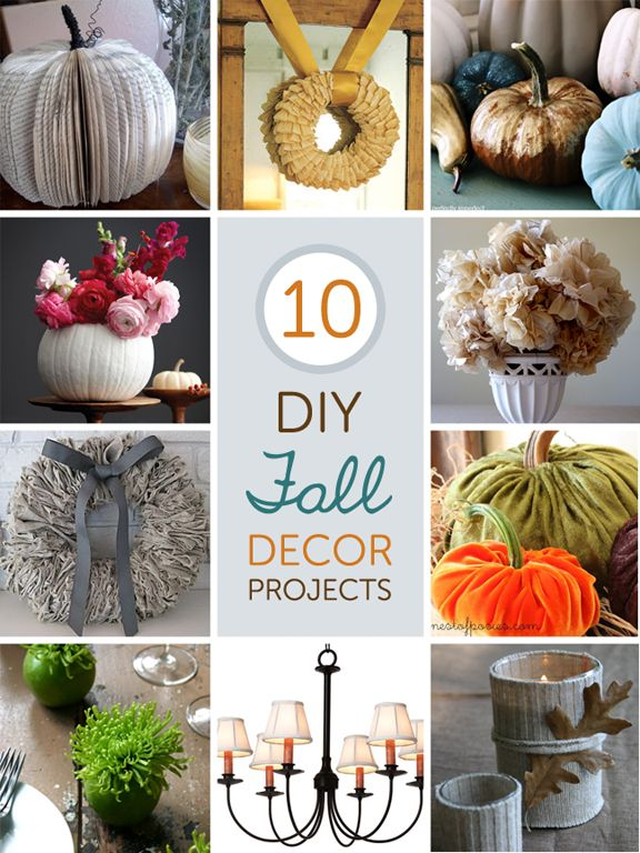 10 fabulous diy fall decor projects diy pinterest