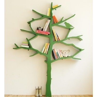 "Tree Bookshelf, by designer Shawn Soh, from the picture book, ""Bookshelves"" via"