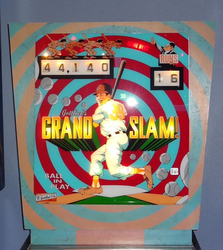 Grand Slam by Gottlieb, 1972 my brother had this pinball machine while we were growing up. We had lots of fun playing it.
