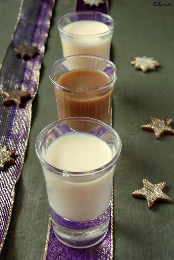 Vaníliás fehér csokis és kávés karamellás tejszín krémlikőr, na meg az elmaradhatatlan tojáslikőr