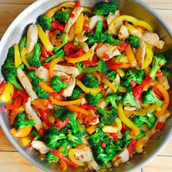 """Here, in this easy stir fry recipe, I used broccoli, bell pepper, chicken and home made sauce: free of corn starch, MSG and all the other unhealthy """"ingredients"""" you would normally get in your stir fry order from the restaurant. I also made it gluten free by using gluten free Tamari soy sauce. One of...Read More"""