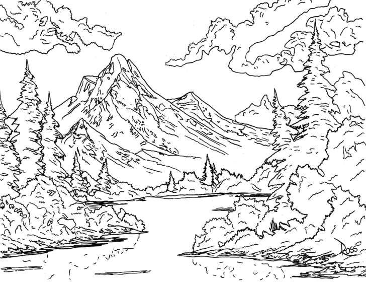 Get Crazy With The Official Bob Ross Coloring Book Coloring Bob