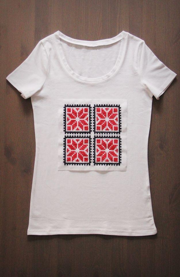 Tricou femei alb cusaturi traditionale