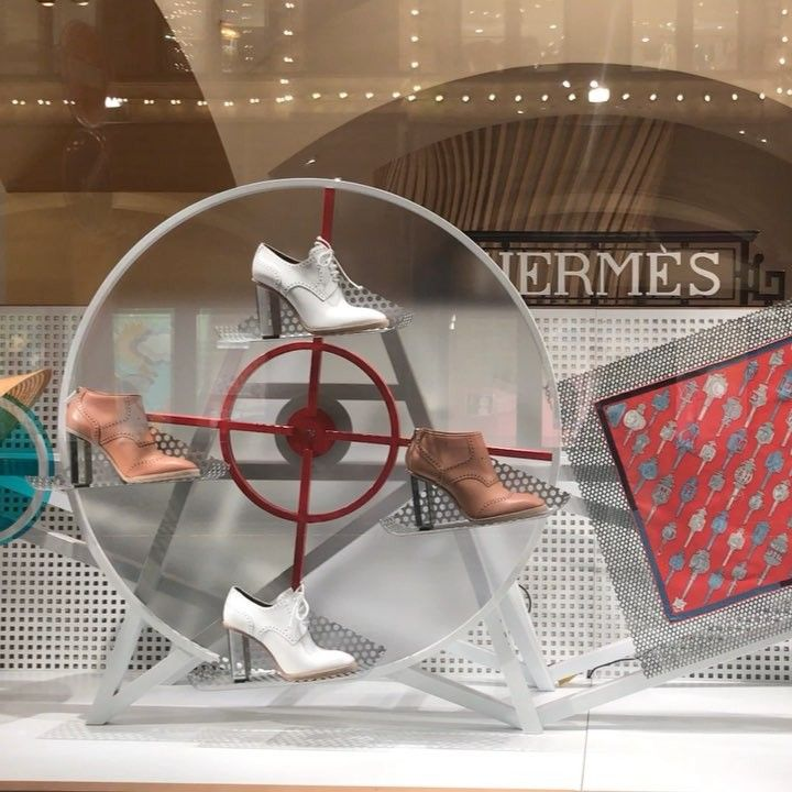 "GUM DEPARTMENT STORE, Red Square, Moscow, Russia, ""When in doubt pedal it out"", for Hermes, pinned by Ton van der Veer"
