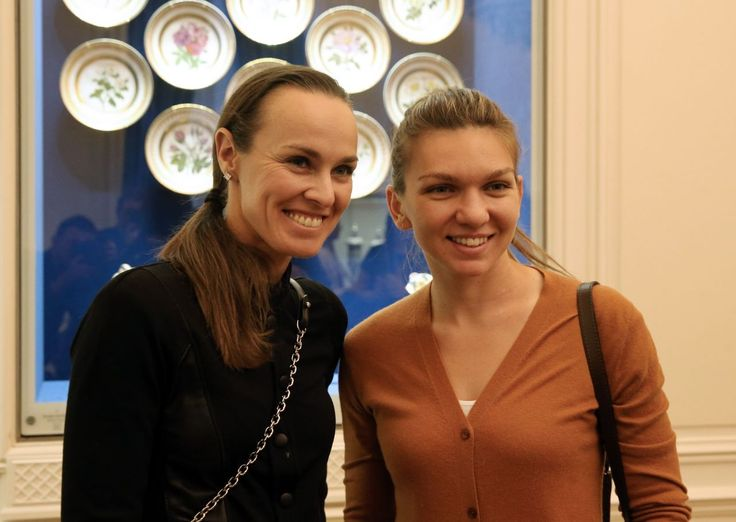 Martina Hingis & Simona Halep #MartinaHingis at the Faberge Museum in St. Petersburg 31/01/2017 Celebstills M Martina Hingis S Simona Halep