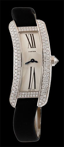 CARTIER Gold Diamond 'Tank' Ladies Watch... BozBuys Budget Buyers Best Brands! https://BozBuys.ecwid.com/
