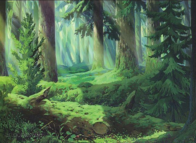 Výsledek obrázku pro Anime forest