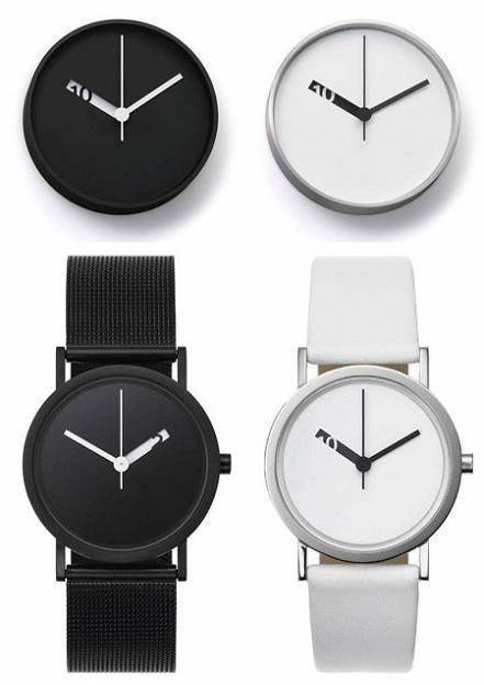 #Kazar Black & White clock/watch