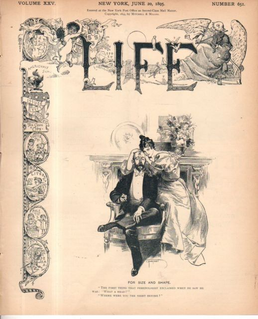 1895 Life June 20 - Jewish women like dollar sign fabric;Women's rights; Bicycle | eBay
