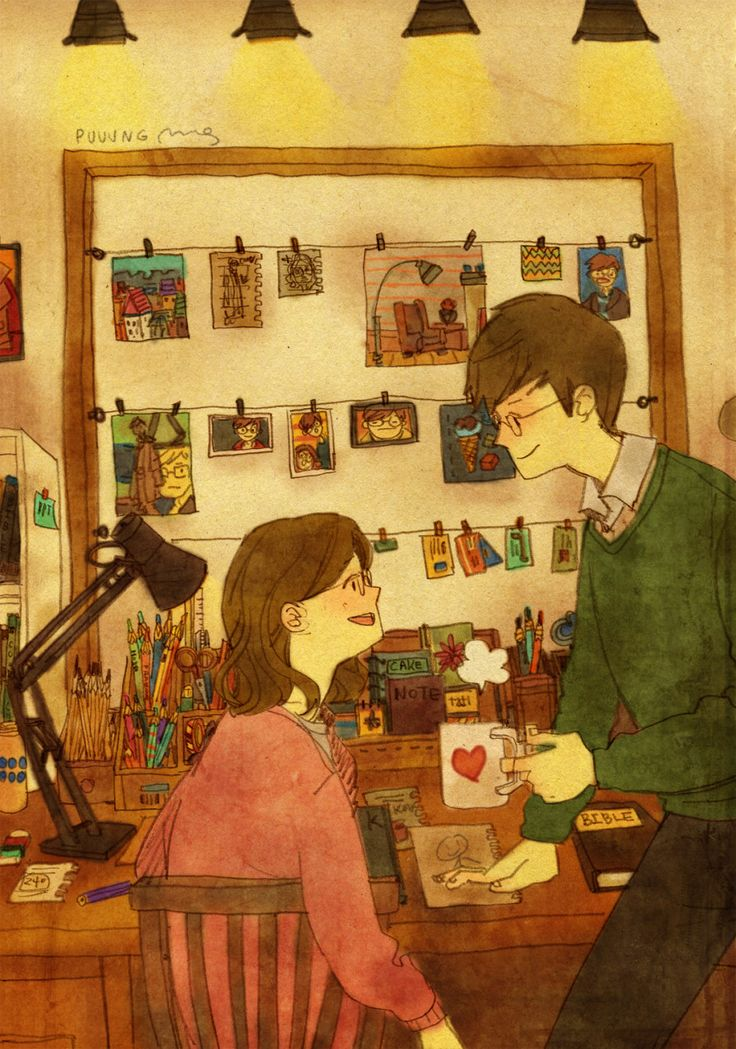 "♥ ""My project is finally finished so we can spend time together again, YAY!"" ♥ by Puuung at www.grafolio.com ♥"