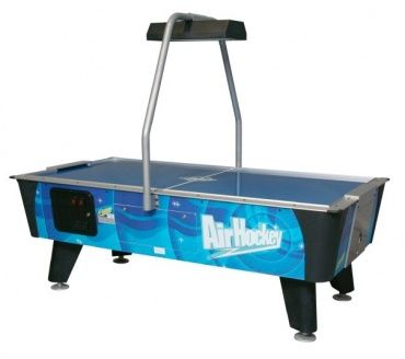 Blue Streak Air Hockey Table - A classic offering from the acclaimed Dynamo company, the Blue Streak embodies the pride and care that Dynamo put into their products, from the impact-resistant laminate playfield to the company's trademark durable cabinet construction.