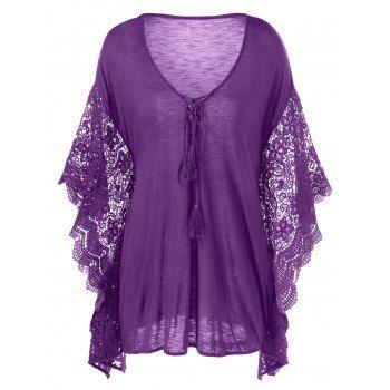 GET $50 NOW | Join Dresslily: Get YOUR $50 NOW!https://m.dresslily.com/plus-size-butterfly-sleeve-crochet-trim-blouse-product1992861.html?seid=3rrU9jh621ESA2t23fhrSttjC8