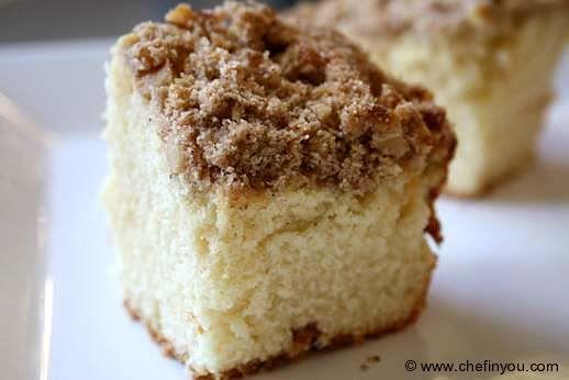 Easy Cinnamon Walnut Coffee Cake