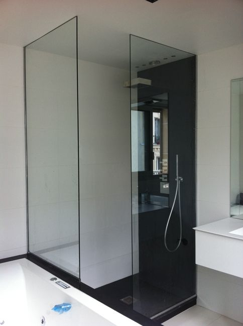 1000 ideas about pare douche on pinterest pare douche for Miroir sur mesure paris