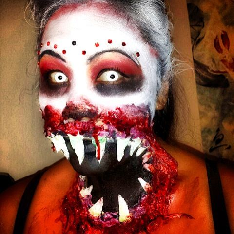Monster mouth zombie makeup, annita808 | Halloween ...