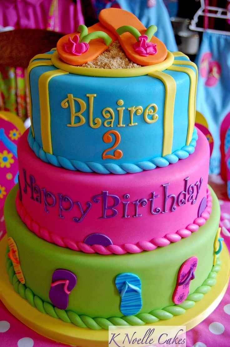 Pretty and Colorful Flip Flop Tiered Cake ... FROM: http://media-cache-ak0.pinimg.com/originals/36/5c/1f/365c1fd9e3dbbdb2ed75858fa4a9c7dd.jpg