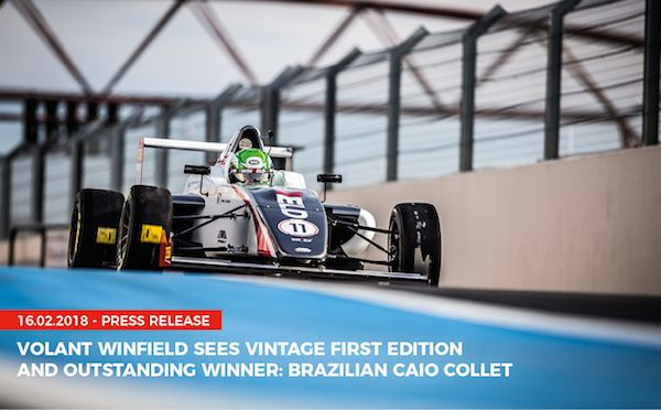 VOLANT WINFIELD SEES VINTAGE FIRST EDITION AND OUTSTANDING WINNER: BRAZILIAN CAIO COLLET https://buff.ly/2FbXeBO?utm_content=buffer33709&utm_medium=social&utm_source=pinterest.com&utm_campaign=buffer