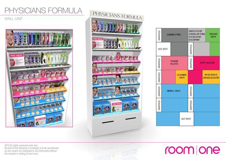 Physicians Formula - Cosmetics Wall Display www.roomone.com.au