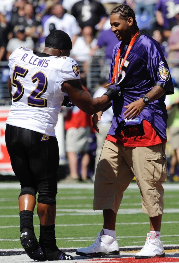 Ray Lewis and Carmelo Anthony #NFLFootballBoys