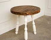 StoolMary Reclaimed, Side Tables, Reclaimed Wood, Tables Chartreuse, Round Side, Chartreuse Legs, Wood Round